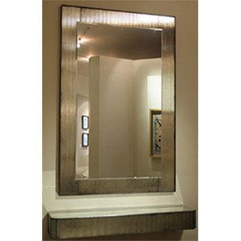 quartz mirror and shelf